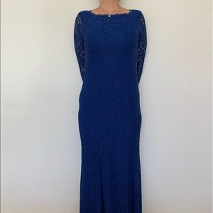 Adrianna Papell Size 6 Blue Evening Dress